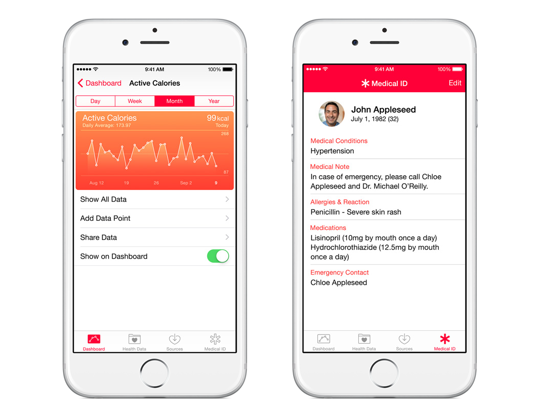 apple iOS 8 health monitor