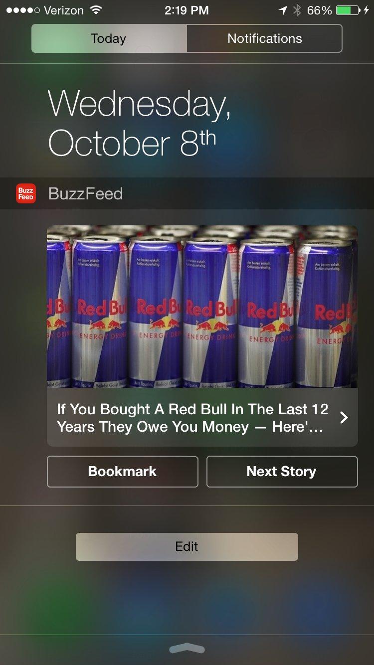 Buzzfeed app for iOS 8
