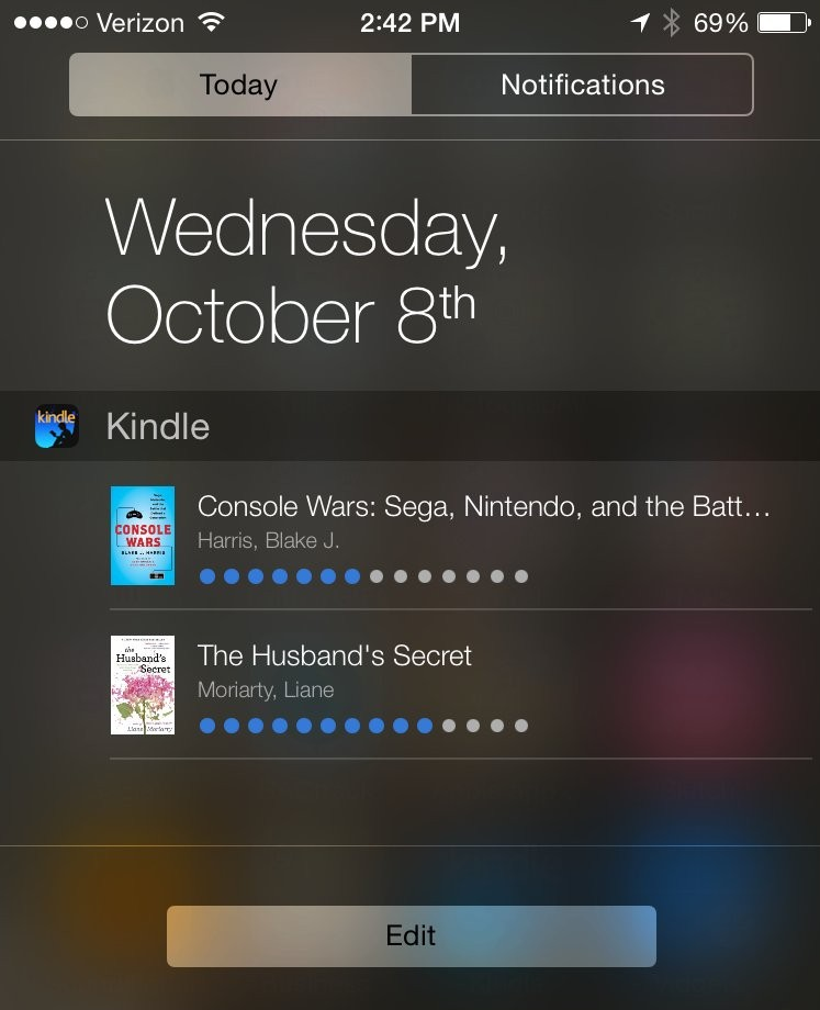 Kindle for iOS8