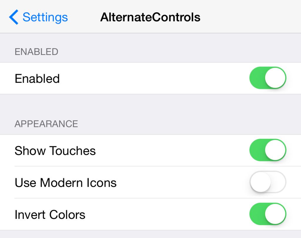 AlternateControls-Settings