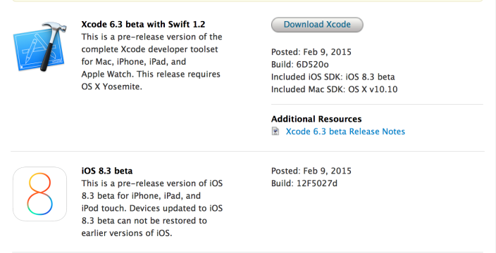 First iOS 8.3 beta seeded to developers