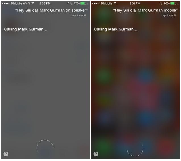 "Apple's iOS 8.3 ""Hey Siri"" allows automatic Speaker Phone calls"