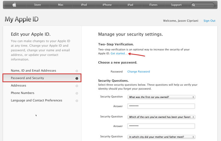 How to set up two-step verification for your Apple ID