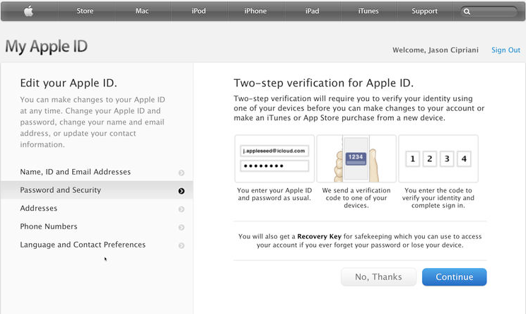 How to set up two-step verification for your Apple ID2