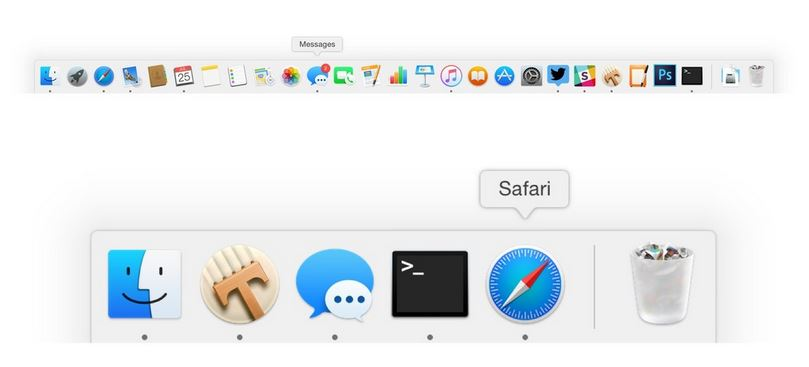 How to show only active apps in OS X dock