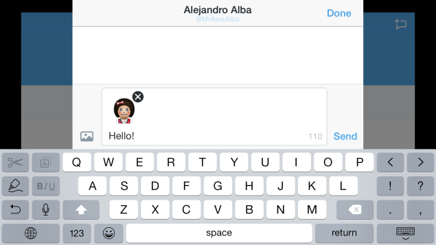 Twitter supports landscape mode for iPhone 6 plus users