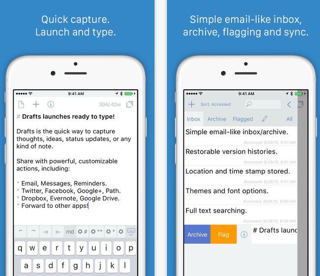 Drafts_app_iPhone_screenshot