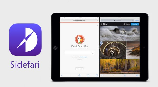 Sidefari allows to view two Safari tabs side-by-side using Split View